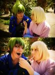 Ao no Exorcist Cosplay (Amaimon and Shiemi) by xLayah