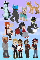 Page Chibi Batch 10. by KingNeroche