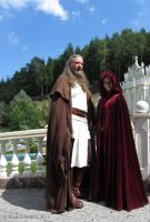 Qui-Gon Jinn and Eirtae Cosplay by BookwormElV