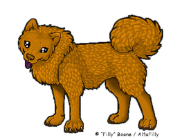 Pixel ChowChow by AlfaFilly