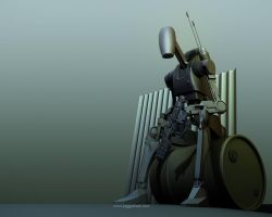 Battle Droid Material Render by 3DFunkee