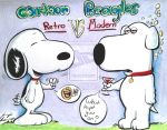 Snoopy and Brian Griffin by AcrylicInk