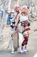 Eclair and Serah Farron by AzurBlueDragon