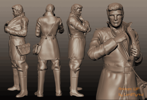 Arkham the Union Soldier WIP *Criticism Needed* by oskaragnarsson