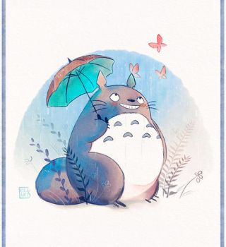 Spring Totoro by Celiarts