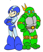 QUICKIE: Mega Man Meets Turtle Man by ProfessorMegaman