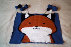 WIP StupidFox baby blanket Part 4 by WollMia