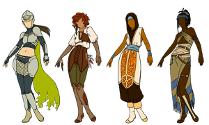 Warrior designs by Owl-in-a-box