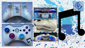 Personalized Custom X360 Controller Vinyl Scratch by CARDI-ology