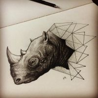 Geometric Rhino by Moviemetal3