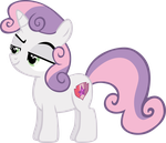 My 2nd vector of, Sweetie Belle. by Flutterflyraptor