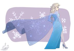 Queen Elsa by SOLAR-CiTRUS