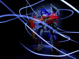 Optimus Prime Light Painting 2 by FordGT