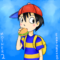 Ness doodle by Laphyn