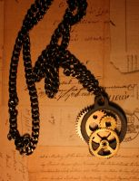 Clock Part Necklace by turnerstokens