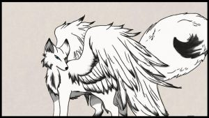 Sketch Winged Fox (updated/finished) by Baby-DaisyFan-Foxy