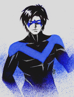 Nightwing (Dick Grayson) by LevittraHazard