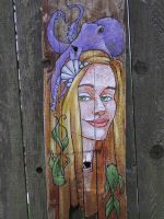 Driftwood mermaid with Octopus by khallion
