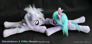 Cloudchaser and Flitter Beanie - My Little Pony by Wolflessnight