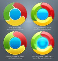 Alternative Chrome icons by lardyboy
