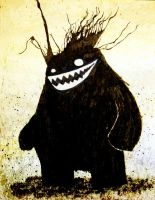 Ink head monster by sticmann