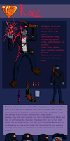 ttoct Kaz ref sheet 2.0 by Dhemuth