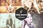 6 Free Matte Actions by symufa