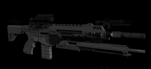 AR-558 Carbine 3d WIP by Jon-Michael-May