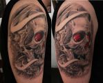Skull Tattoo by ACrowley