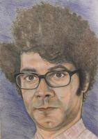 Richard Ayoade - aka Moss from The IT Crowd by Anita-Sanderson