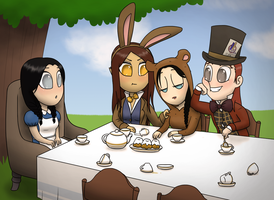 A Mad Tea Party by tequilasunburn