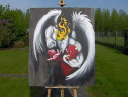 the saints are coming painting by Namingway-Regret