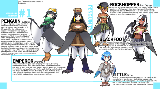 Monster Musume+: Penguin Species by Dragonith