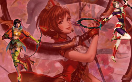 Dynasty Warriors - Sun Shangxiang by Axel-Vampire