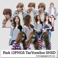 Pack 12PNGS TaeYoonSoo SNSD by hwangjungmina by hwangjungmina