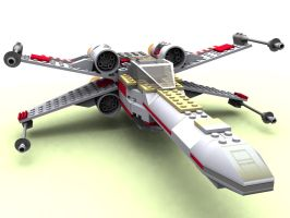 Lego X-wing by webwizardking