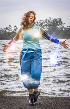 Korra Bending all the elements by Imagine-That-Cosplay