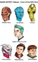 MASS EFFECT: Nebula - the Crew of the SSV Eris by lubyelfears