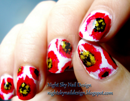 31 Day Challenge, Day 1: Red Nails by nightskynaildesign