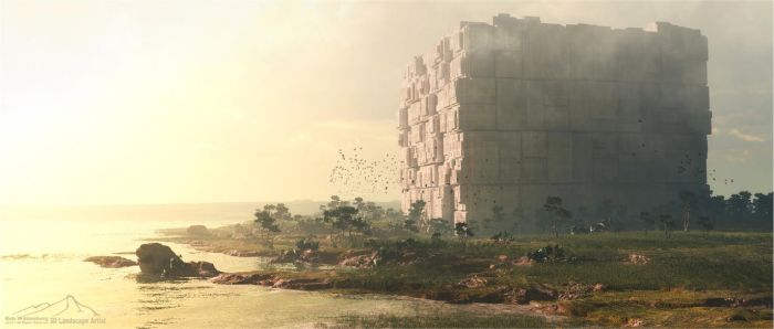 The Cube by 3DLandscapeArtist