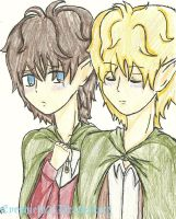 Frodo/Sam by ThePastelHobbit