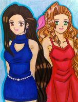 Tifa and Aerith WallMarket version by dagga19 by dagga19