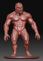 Mutant Monster man in Clay by Hungrysparrow