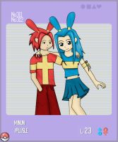 Pokemon - Plusle and Minun by deadlykitty