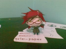 grell sutcliff papercraft by Grim-paper