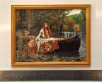 The Lady of Shalott original miniature painting by MyMiniatureWorld
