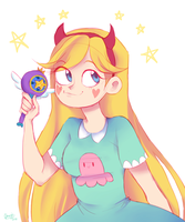 Star Butterfly by joannawentbananas