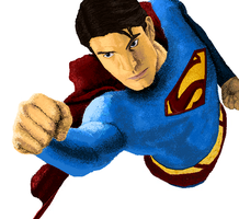 MS Paint Superman by SinglePost