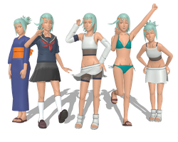 Fuu Pack 1 for MMD by StekinoMai