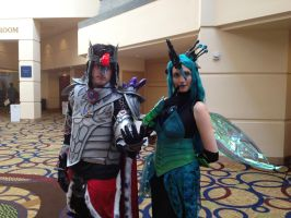 BABSCon: King Sombra and Queen Chrysalis by CinemaBrony